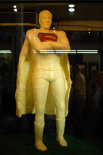 Brandon Routh, as Superman, immortalized in butter at the Iowa State Fair.