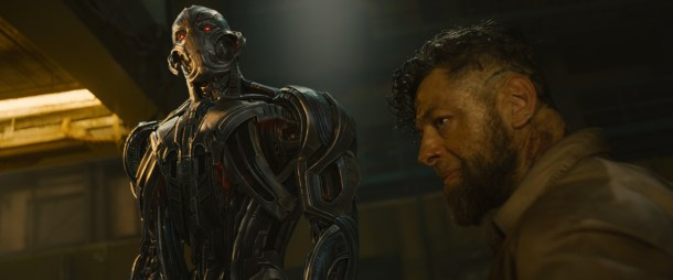 Marvel's Avengers: Age Of Ultron L to R: Ultron and Ulysses Klaue (Andy Serkis) Ph: Film Frame ©Marvel 2015