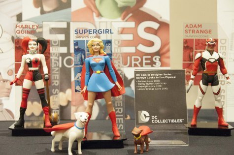 Harley Quinn, Super Girl, and Adam Strange.