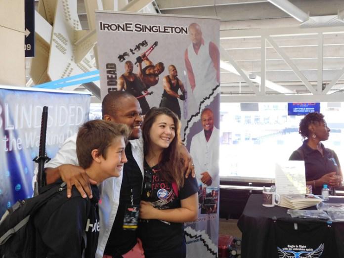 Irone Singleton making memories with fans.