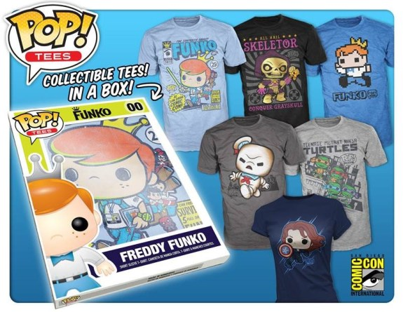 Funko is excited to announce the debut of Pop! Tees at this year's San Diego Comic-Con!