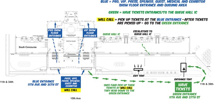 NYCC15 Fan-Entrance-Plan