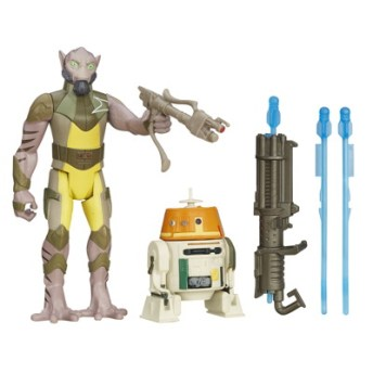 STAR WARS TFA 3.75IN Figure 2-Pack_Zeb Chopper