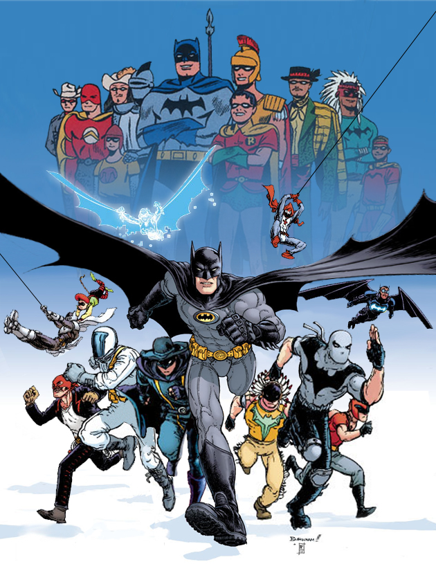 """A batman for every day of the week.  That's the world I want to live in.  An Earth-prime with Mondayman, Tuesdayman, Batman, Thursdayman..."" -- Dan DiDio"