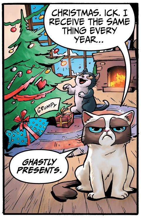 Christmas Comics.Happy Holidaze 12 Days Of Grumpy Cat Christmas Comics The