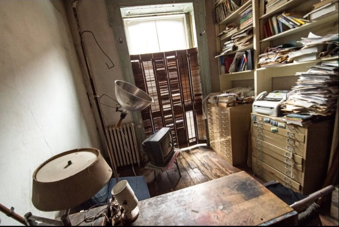 Inside the Louise Bourgeois House   Louise Bourgeois in her home studio in 1974.   The New York Times.jpeg