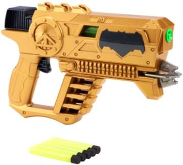 "Batman Kryptonite Strike Blaster: Powered by BOOMco technology, this movie-inspired blaster includes 5"" Kryptonite darts. SRP $14.99"