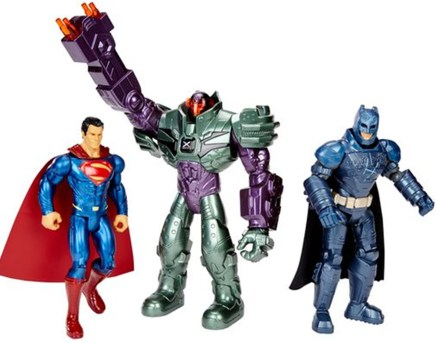 "Superman, Batman, & Lex Luthor Action Figure 3 Pack: 6"" authentic movie inspired figures with multiple points of articulation. SRP $24.99"