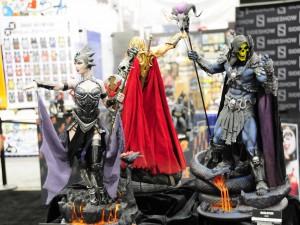 Evil-Lyn on left, Skeletor on right