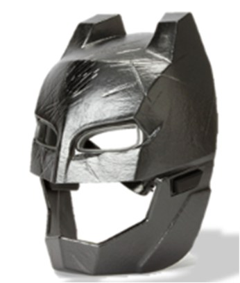 Batman Voice Changer Helmet: Features light up eyes and push button sounds and phrases. Activate the integrated voice changer to make yourself sound like Batman from the film.