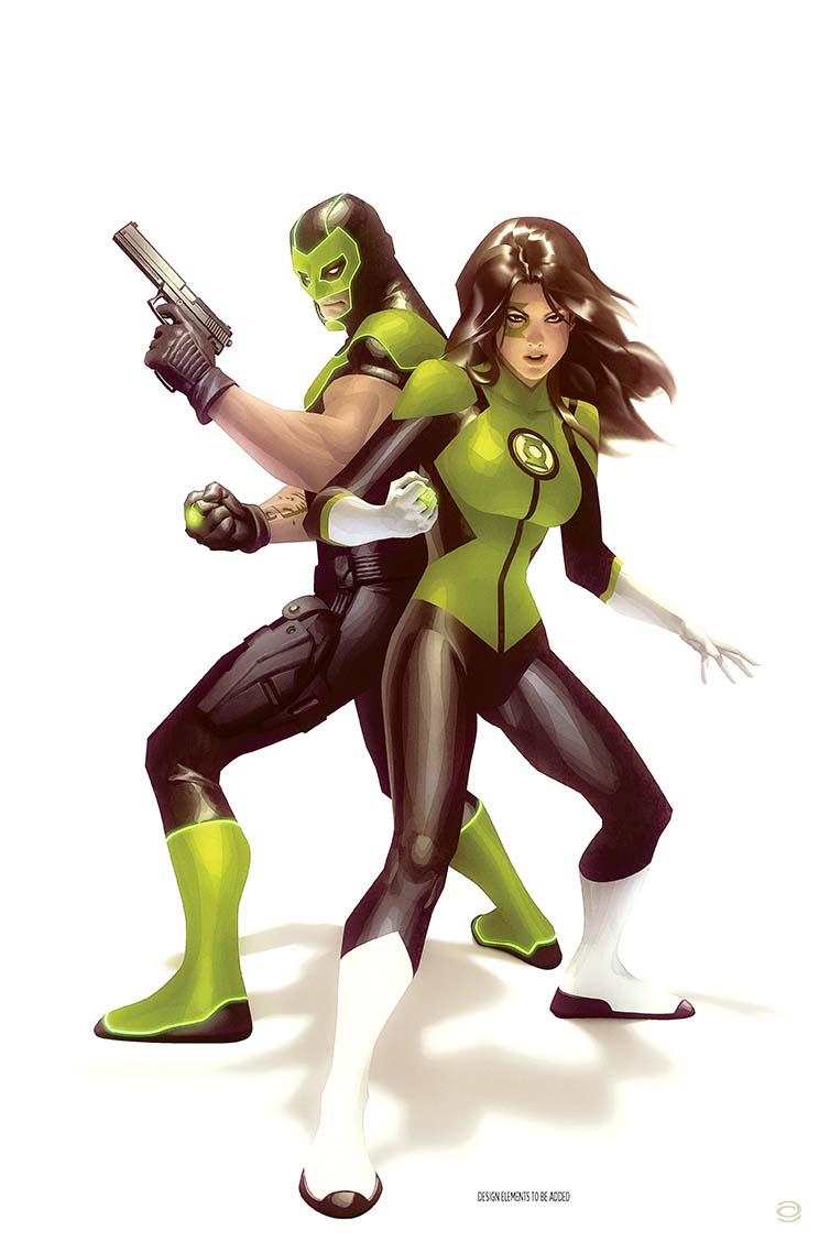 Green Lanterns Rebirth Variant Cover by Alex Garner