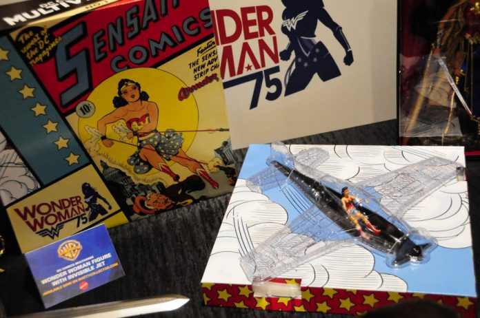 Wonder Woman Figure and Invisible Jet