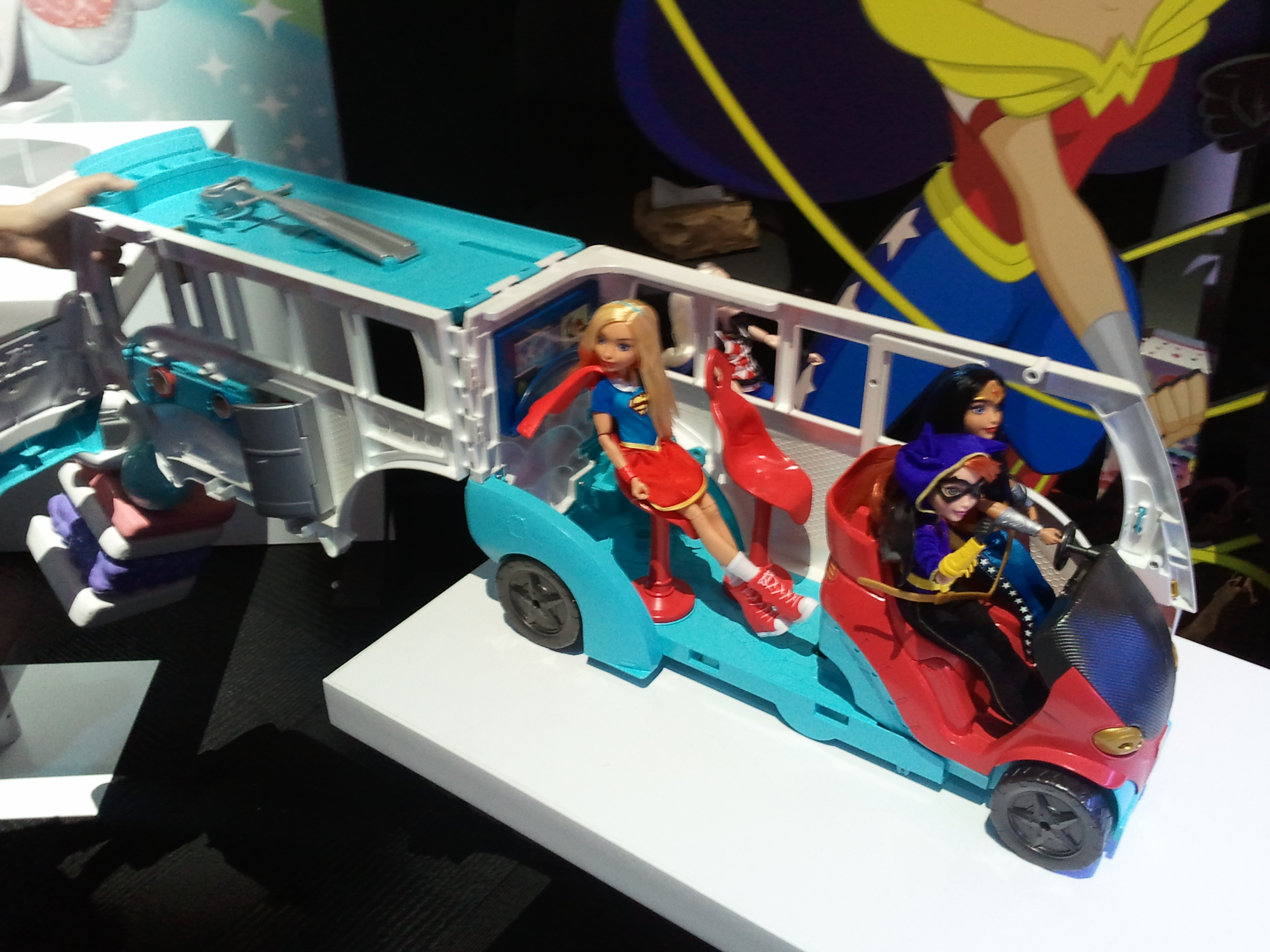 Trend DC Super Hero Girls Transforming Super Bus FGY SRP years Available Fall uAt Super Hero High students must be ready to save the day
