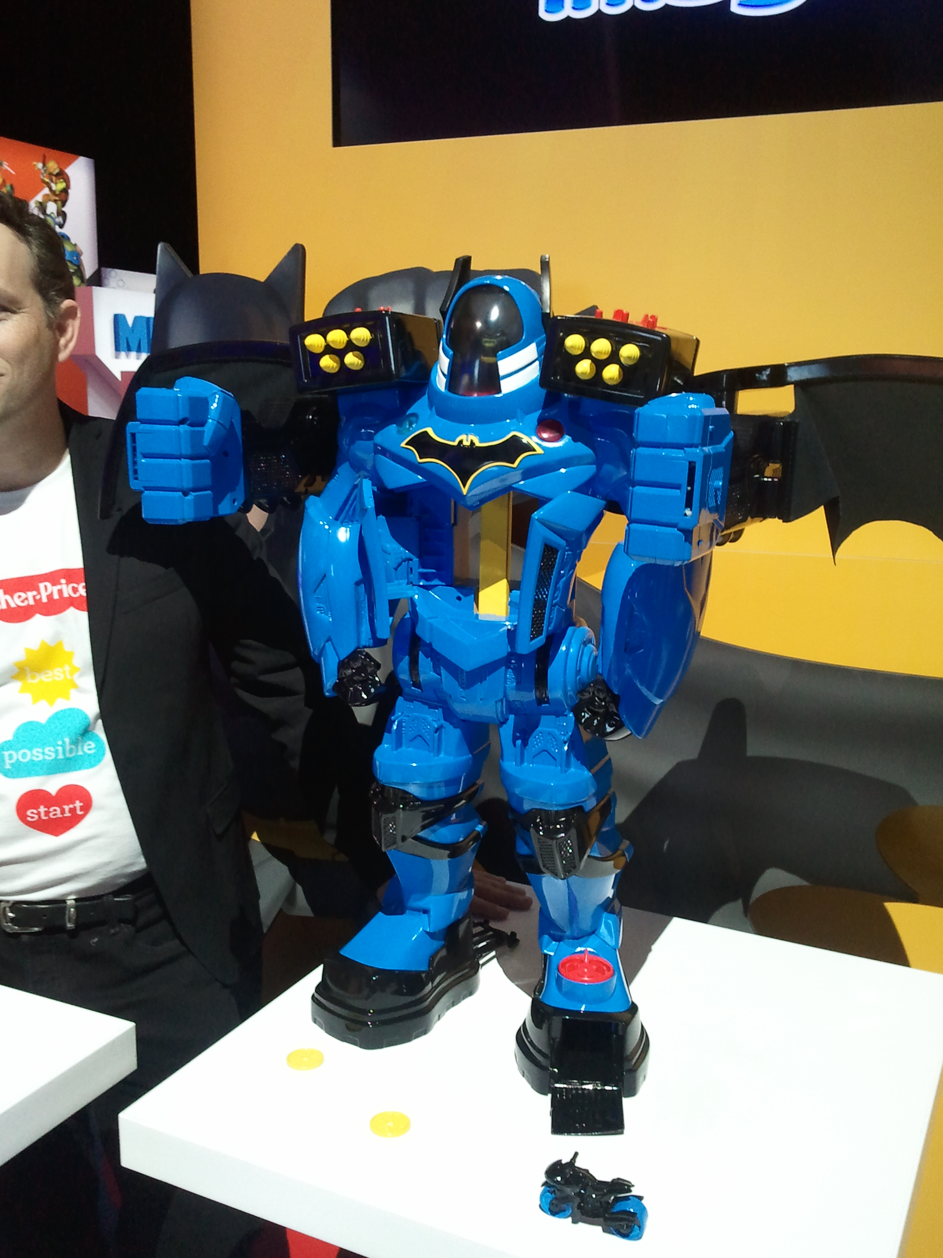 Perfect Imaginext DC Super Friends Batbot Xtreme FGF SRP Y Available Fall The ultimate Batman toy over feet tall makes kids feel
