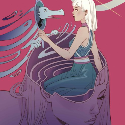 Shade the Changing Girl #7 variant cover by Marguerite Sauvage