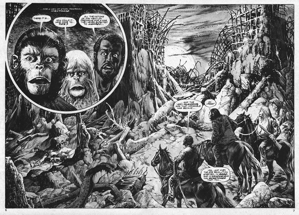amazing art alfredo alcala s planet of the apes will blow your mind