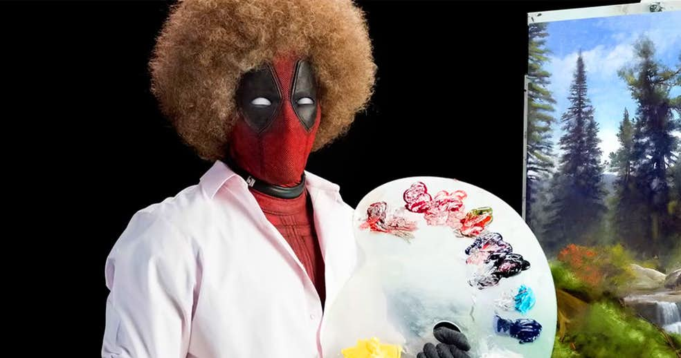 Deadpool 2 Teaser-Trailer channels Bob Ross … really