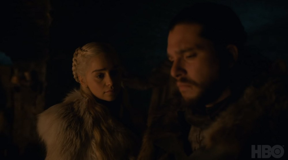 Jon and Dany in the Crypt