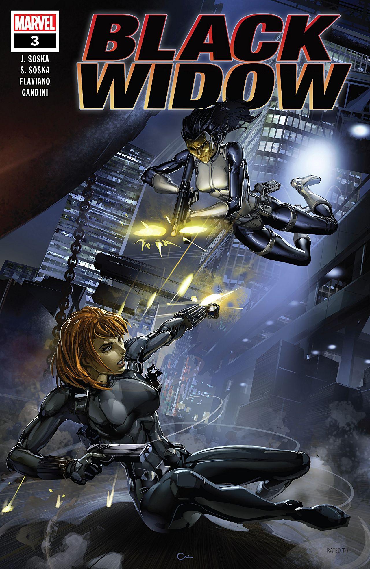 Black Widow #3 cover art by Clayton Crain