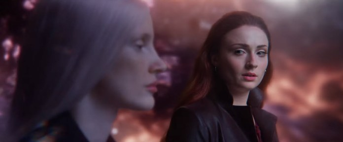 Jessica Chastain and Sophie Turner in DARK PHOENIX