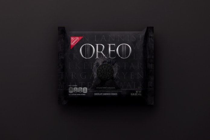 Game of Thrones OREO packaging
