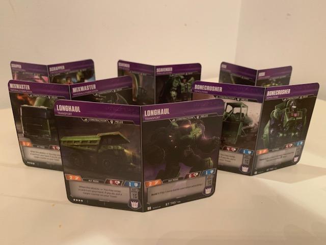 Transformers: TCG Devastator Deck Constructicon Cards