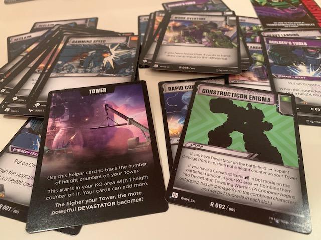 Transformers: TCG Devastator Deck Action Cards Construction Enigma Tower