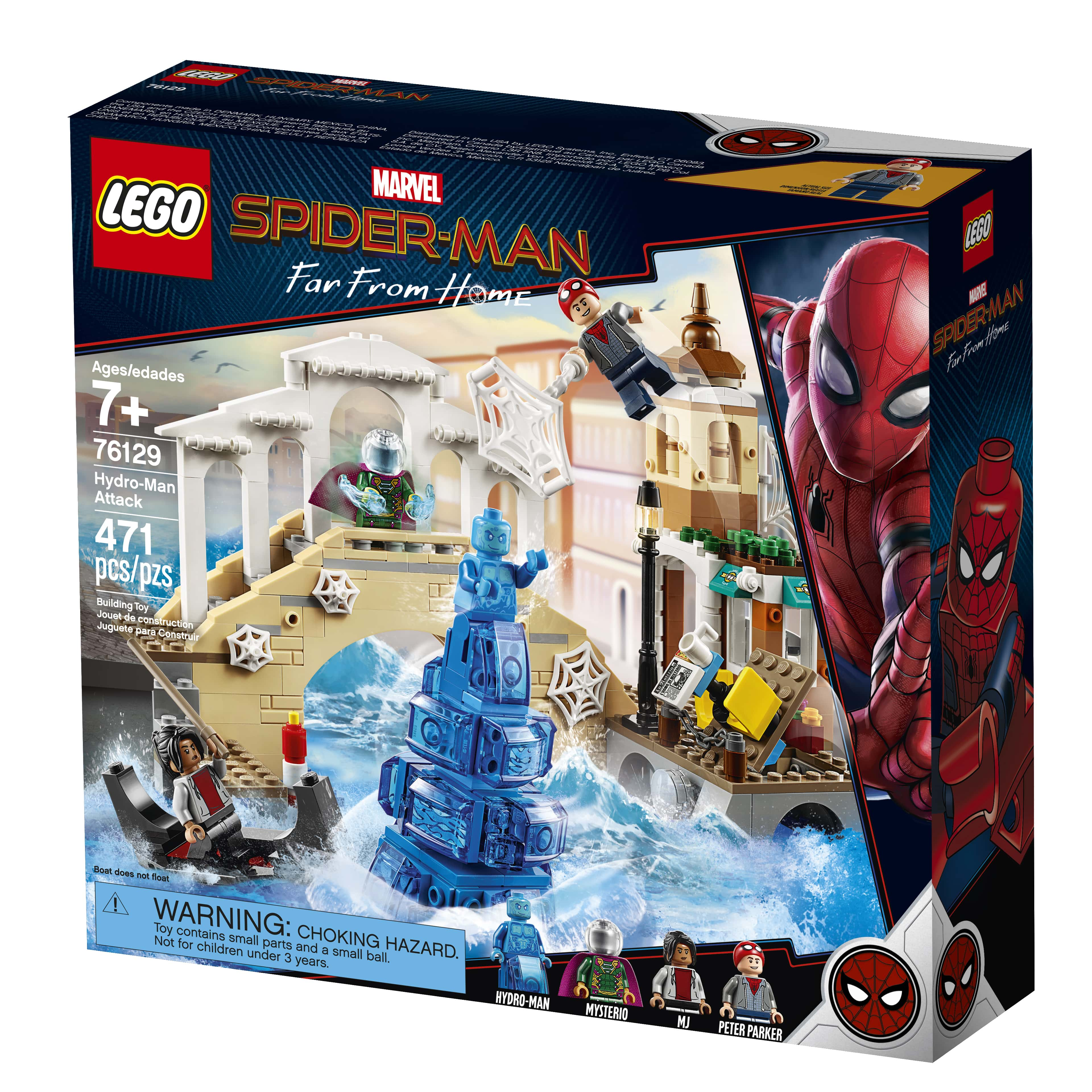 With Spider Mask Lego Peter Parker Minifigure 76129 Spider-man Far From Home