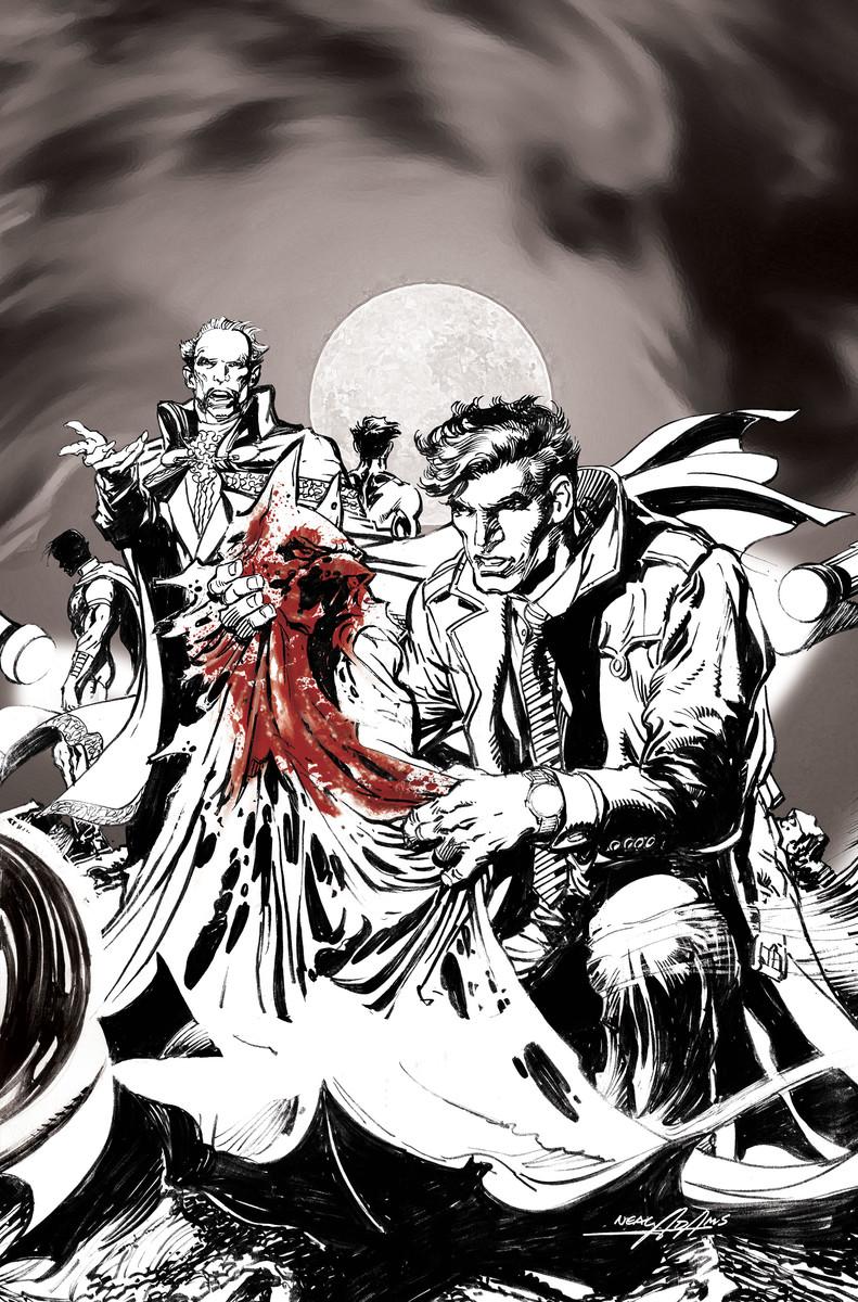 Batman vs. Ra's al Ghul #1 B&W Cover
