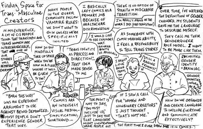 Queers & Comics conference comic 9