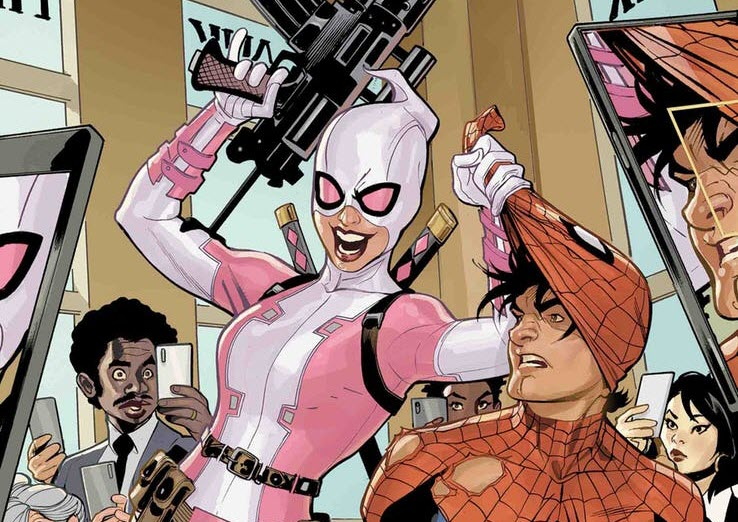 Gwenpool with Peter Parker