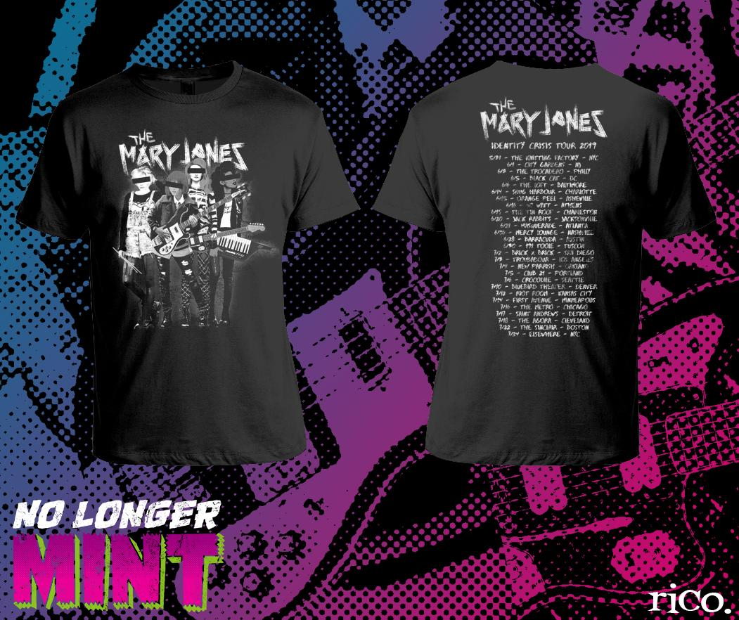 Mary Janes tour t-shirt design via Rico Renzi