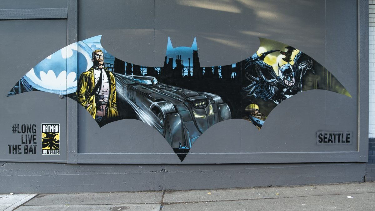 Local artists celebrate the Dark Knight's 80th with Batman murals