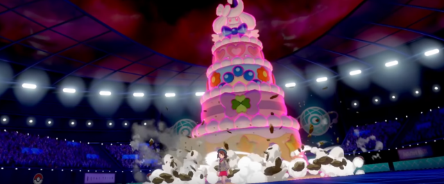 The newest POKÉMON SWORD AND SHIELD trailer reveals a skycraper-sized cake monster