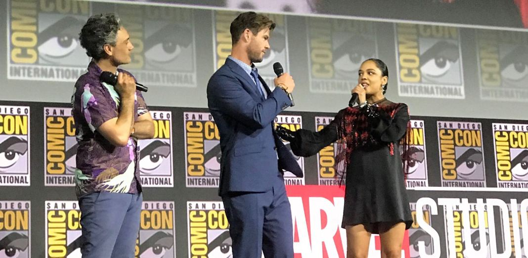 Tessa Thompson (Valkyrie) speaks in Hall H
