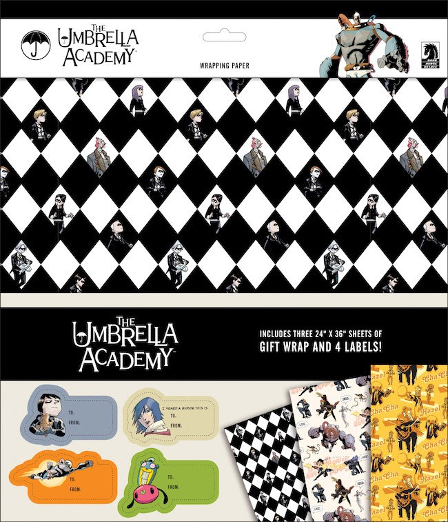 Umbrella Academy merch - wrapping paper