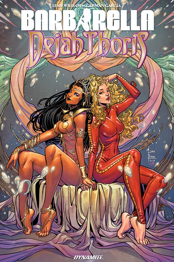 EXCLUSIVE PREVIEW: BARBARELLA/DEJAH THORIS TRADE PAPERBACK collects the adventures of the two otherworldly heroines