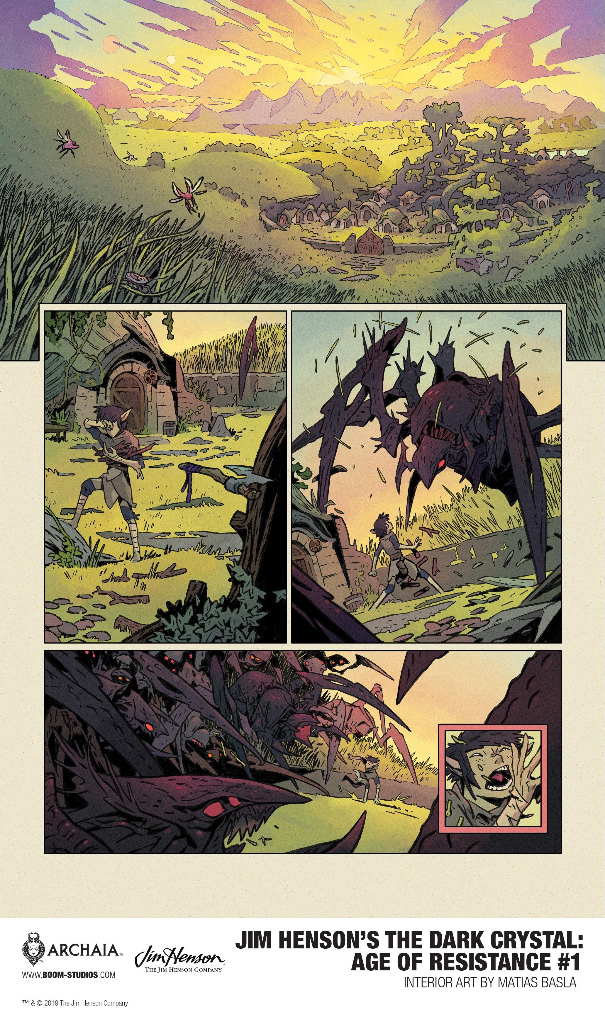 The Dark Crystal: Age of Resistance comic series tie-in