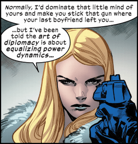 Emma Frost Dominating Humans X-Men