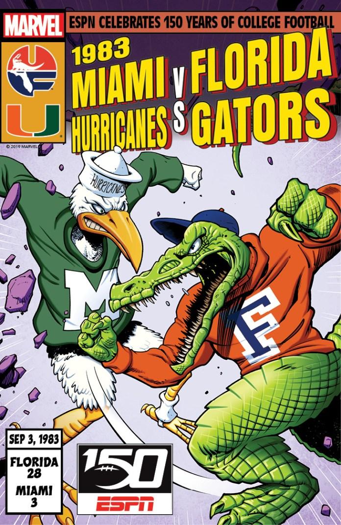 College Football 150 commemorative cover - Miami vs Florida 1983
