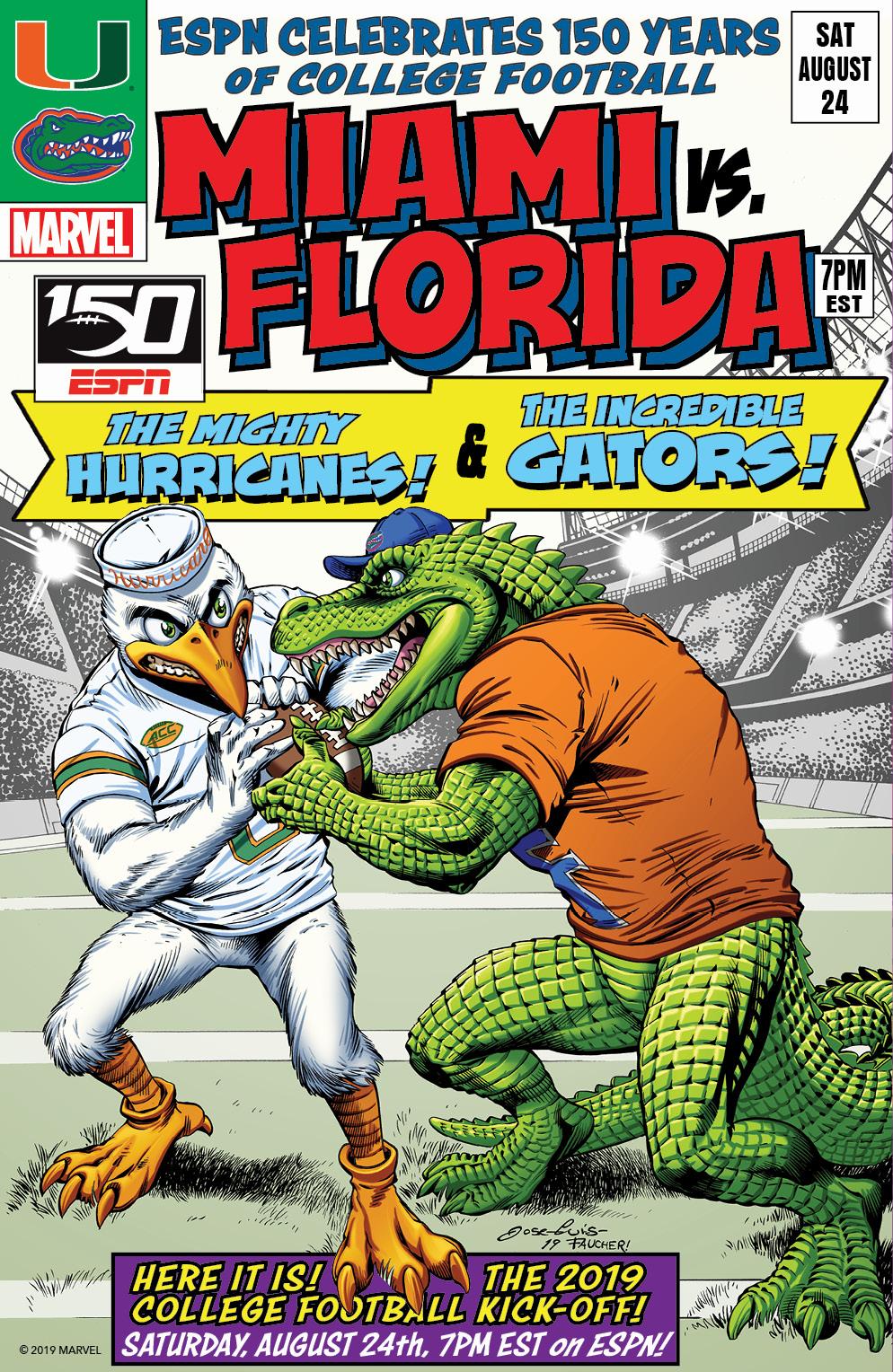College Football 150 commemorative cover - Miami vs Florida 2019