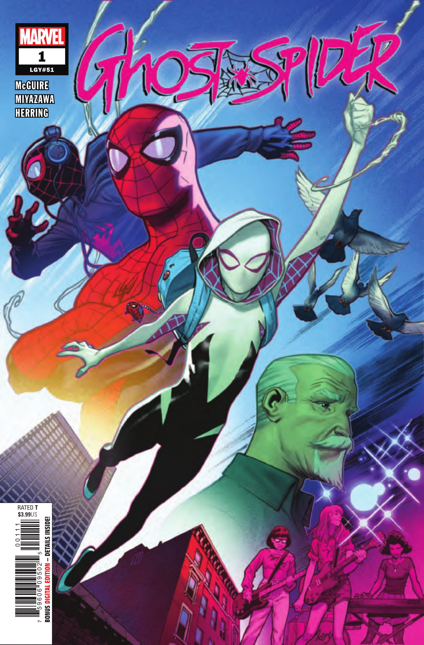 Ghost-Spider #1 cover art by Jorge Molina