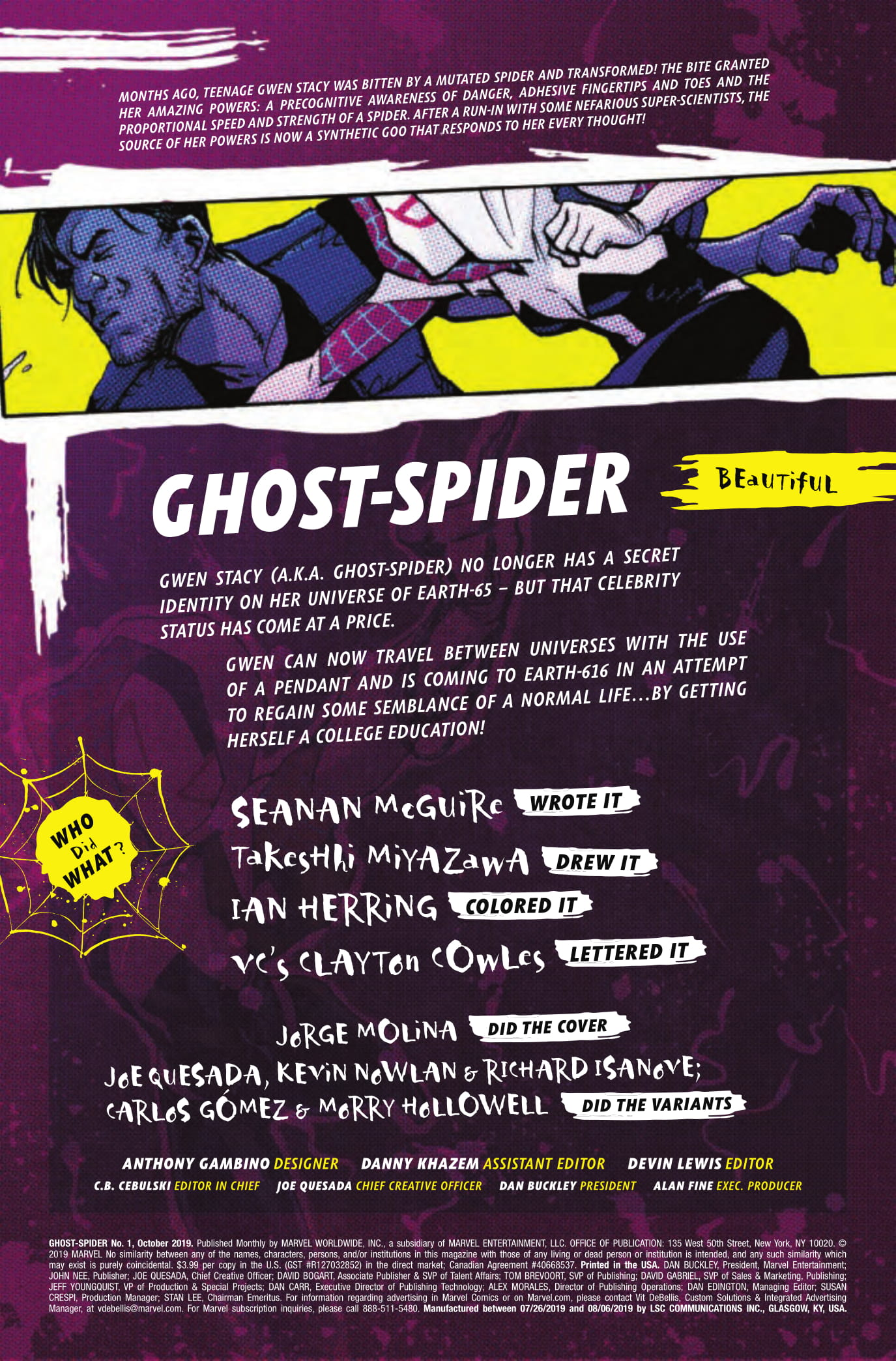 Ghost-Spider #1 credits