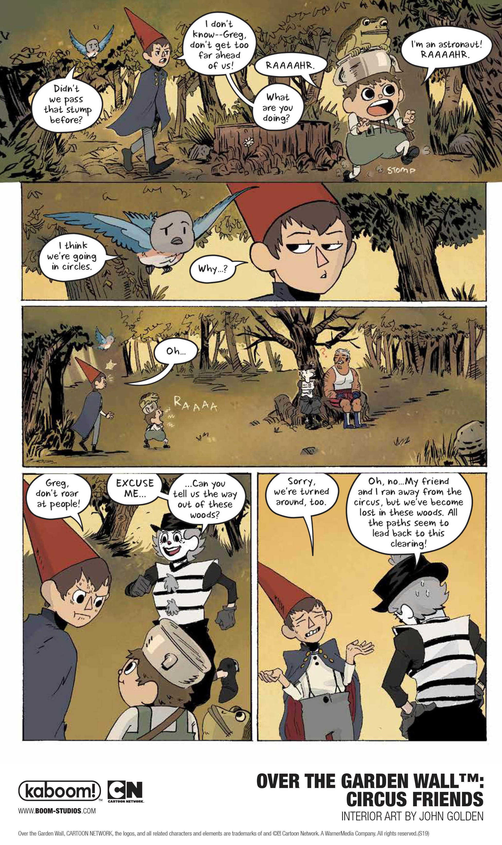 Over the Garden Wall: Circus Friends preview