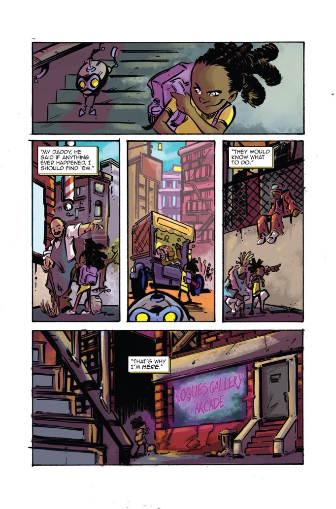 quarter killer comic page