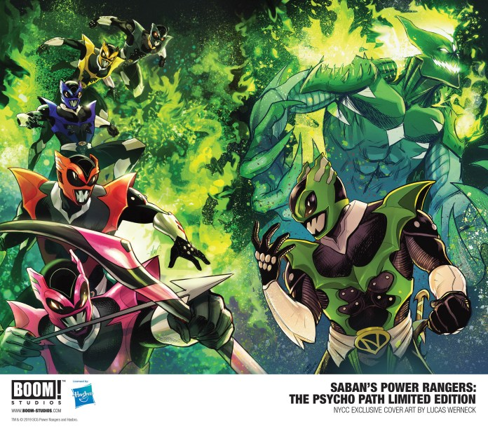 BOOM! Studios NYCC exclusives: Saban's Power Rangers: The Psycho Path Hardcover Limited Edition Variant Cover