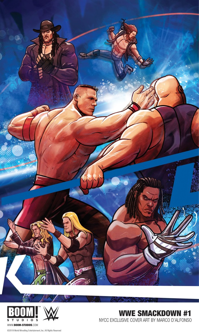 BOOM! Studios NYCC exclusives: WWE SmackDown #1 NYCC Exclusive Variant Cover