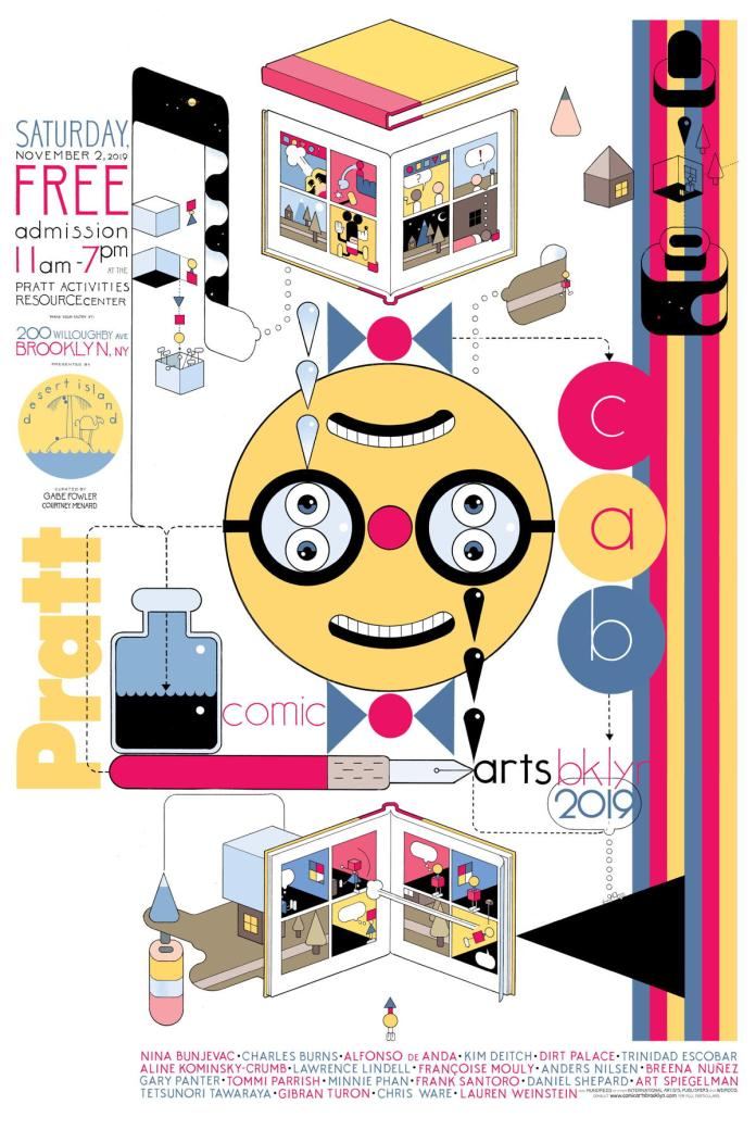 comic arts brooklyn 2019 poster chris ware