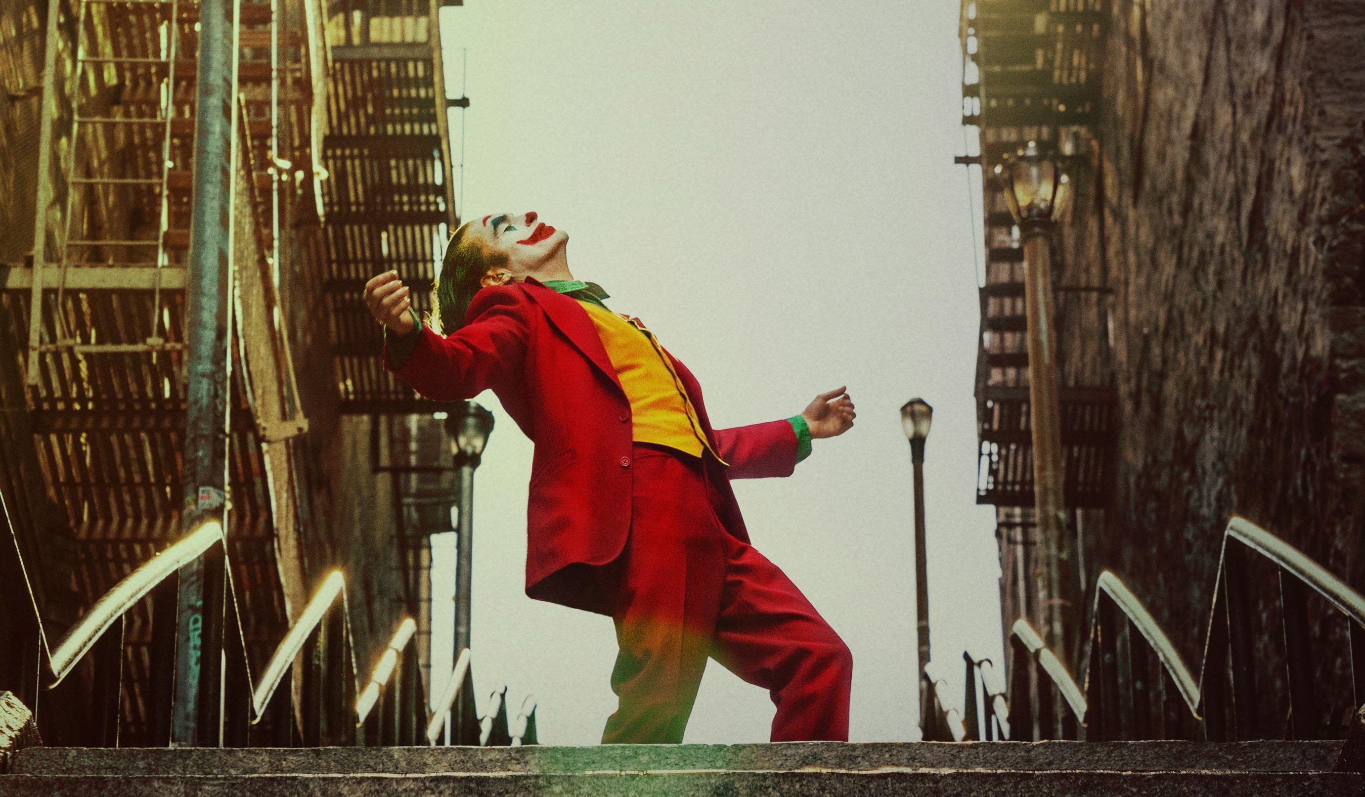 Joaquin Phoenix dancing on the now famous Joker stairs