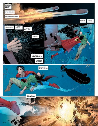 SUPERMAN YEAR ONE - Supes saves Lois underwater